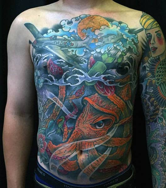 100 Squid Tattoo Designs For Men - Manly Tentacled Skin Art