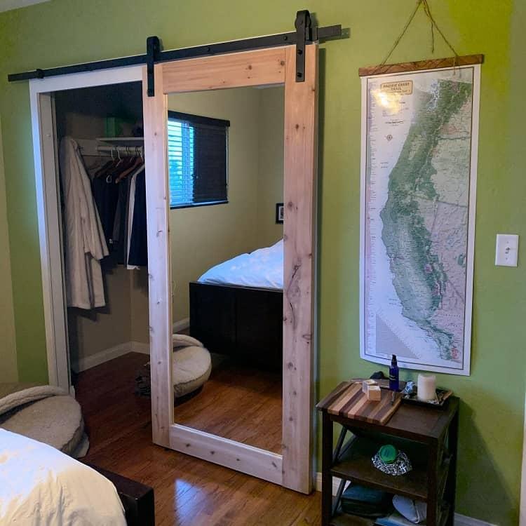 Full Mirror Closet Barn Door