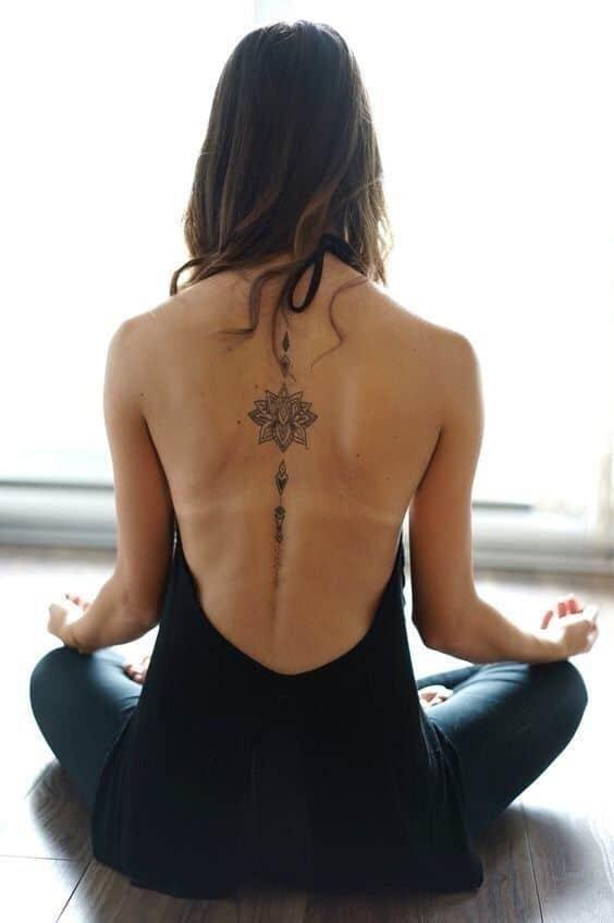 Full Spine Unalome Tattoo