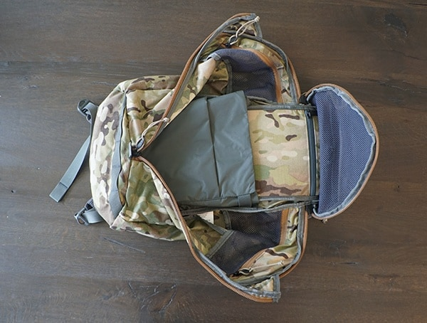 Fully Opened Main Compartment Mystery Ranch Urban Assault Backpack Interior