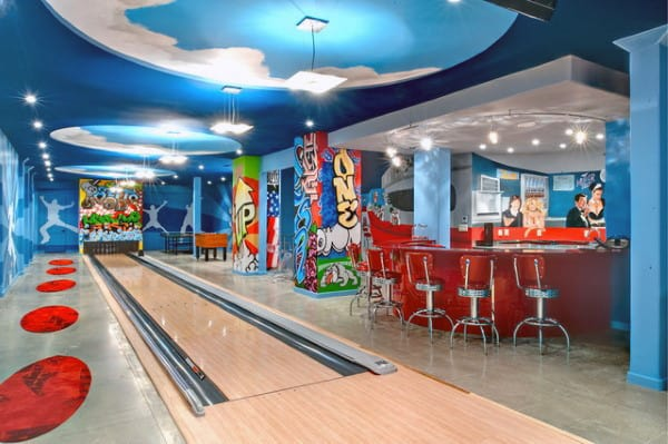 Fun Basement Bowling Alley Design Inspiration