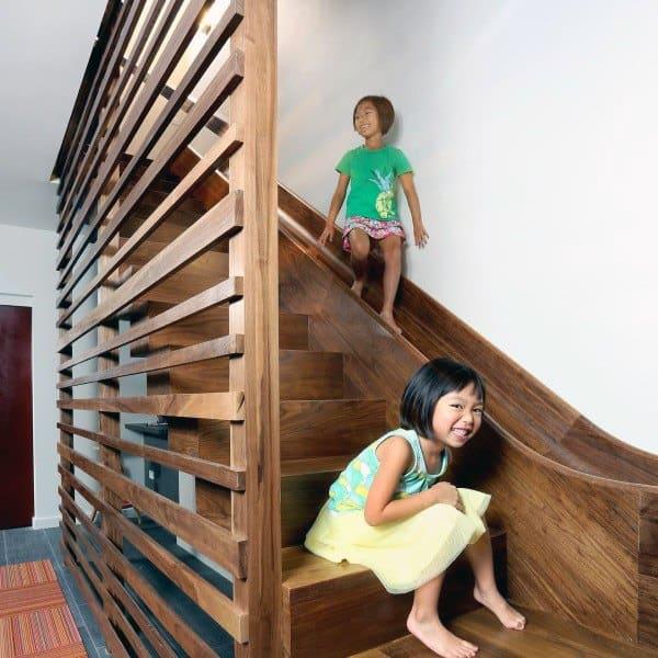 Fun Wood Indoor House Slide Ideas