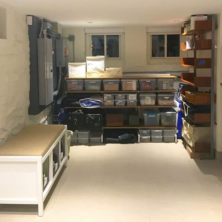 Functional Home Shelf Basement Storage