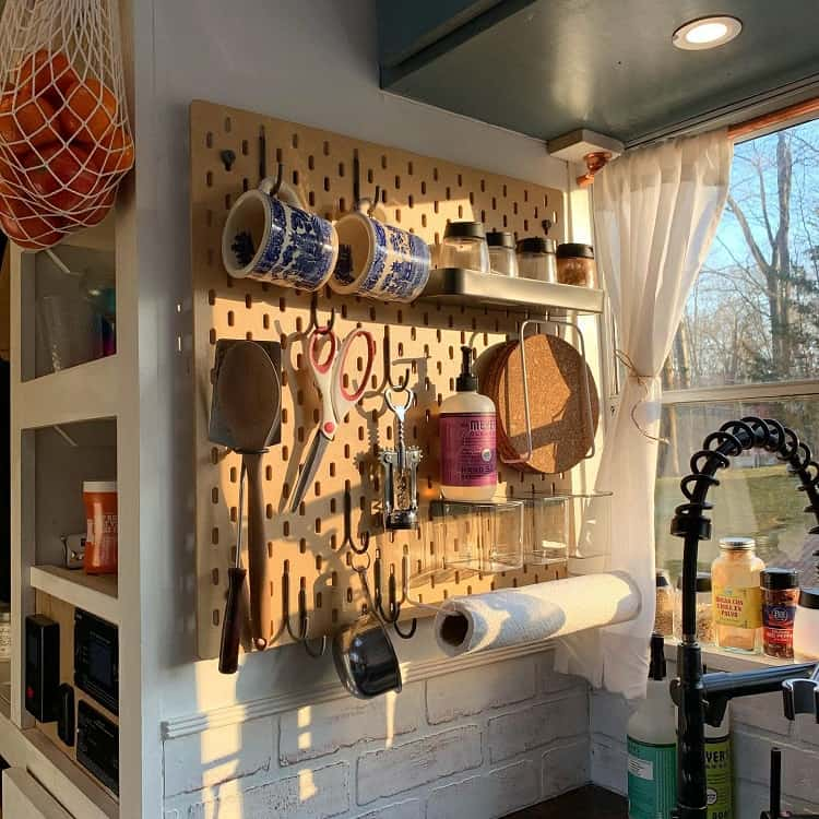 Functional Storage Kitchen Pegboard Ideas Kelsandjay