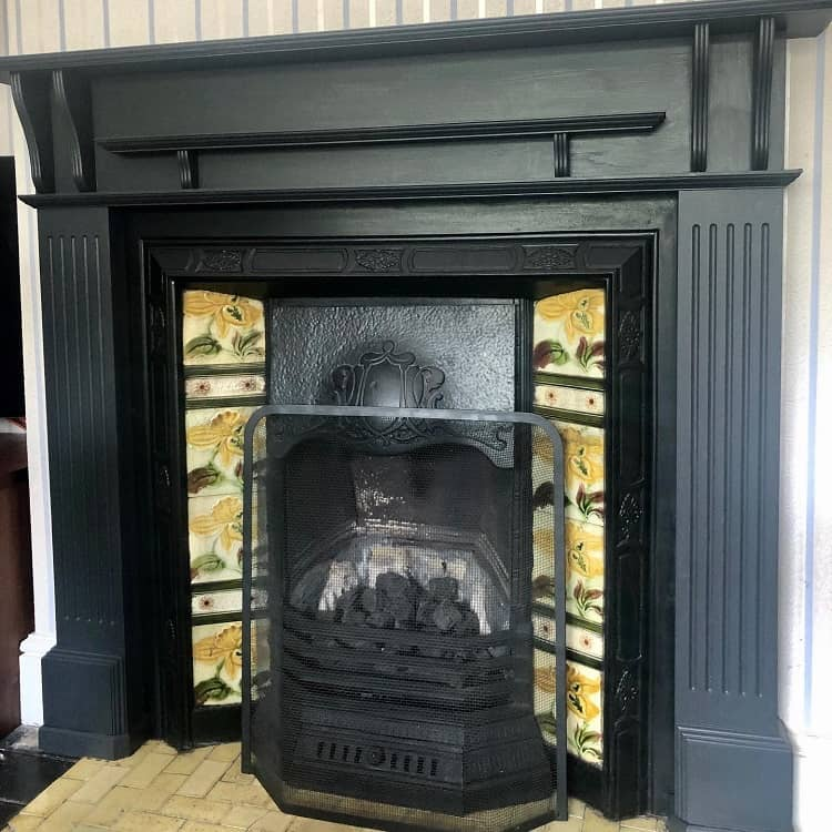 Fusion Mineral Paint Mosiac Fireplace Surround Smashandpolishdiy
