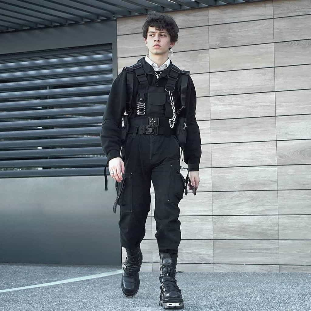 futuristic fashion for men action movie inspired