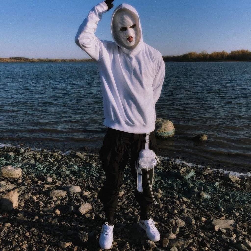 mode futuriste pour hommes sweat à capuche blanc