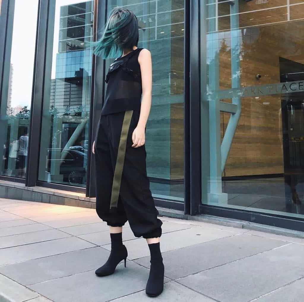 futuristic fashion with Vendetta vibes outfit