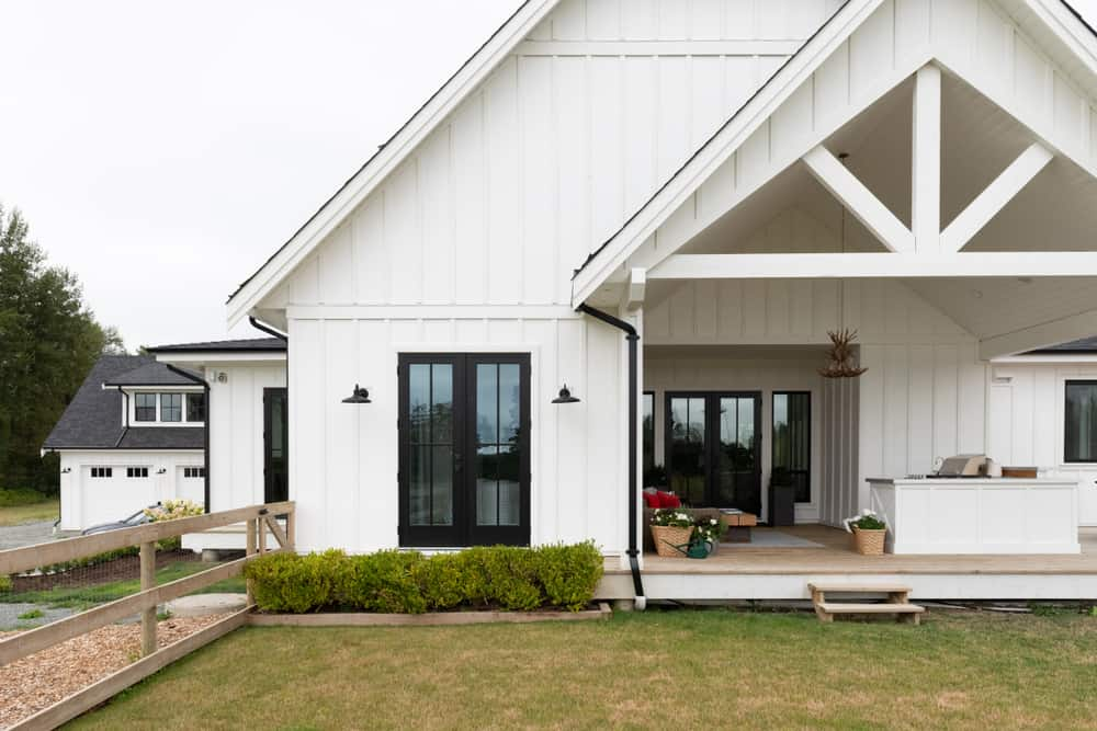 Gable Roof Modern Farmhouse Exterior 1