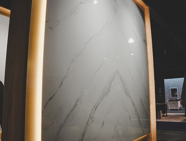 Gaint White Marble Countertop Slab Nahb 2019 Show