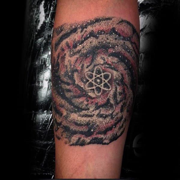 Galaxy Atom Mens Arm Tattoo