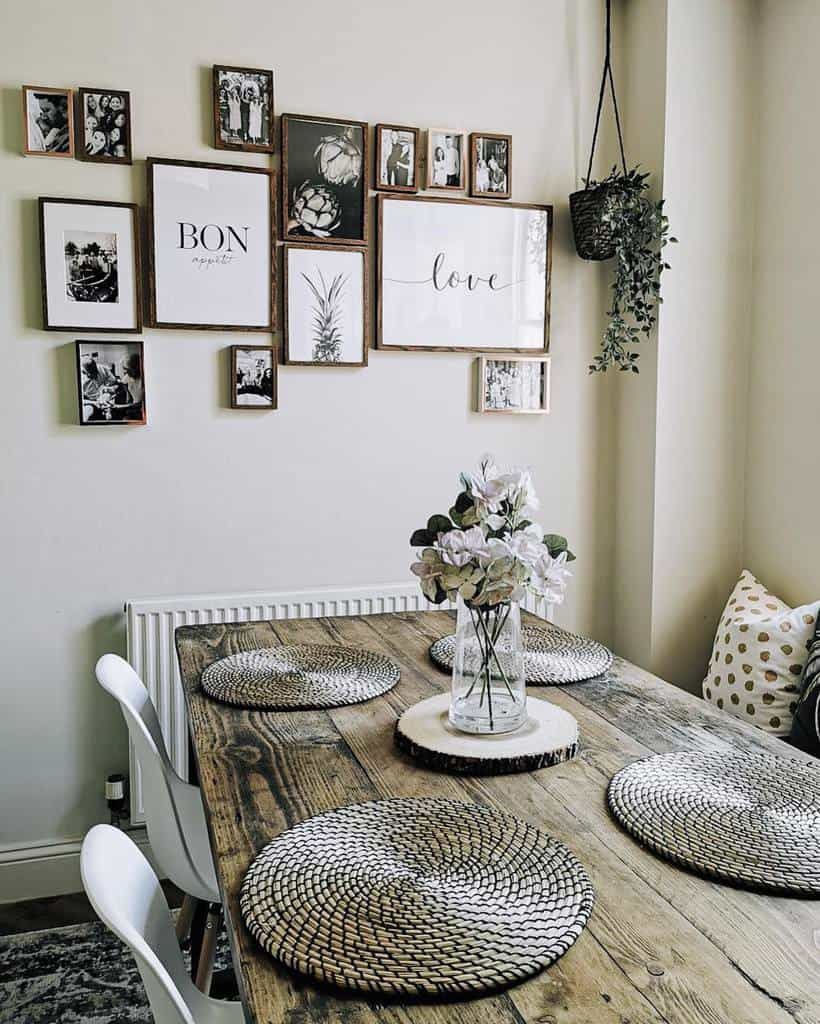 gallery dining room wall decor ideas rebeccas_rose_tinted