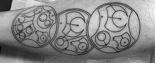 Gallifreyan Tattoo Designs For Men