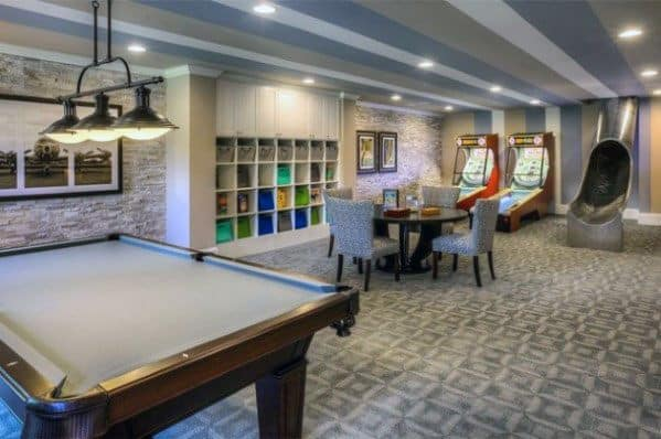 Game Room Finished Basement Design Ideas