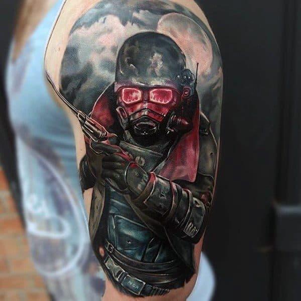 Gamer Male Tattoo Design Ideas Half Sleeve