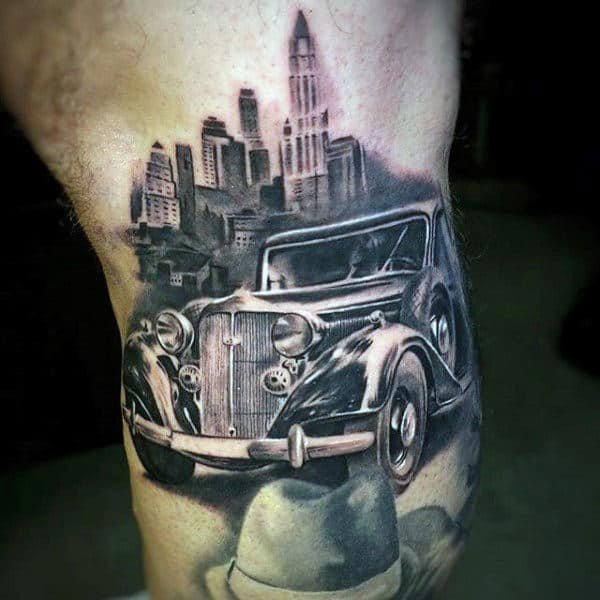 50 Gangster Tattoos For Men Mobster Design Ideas