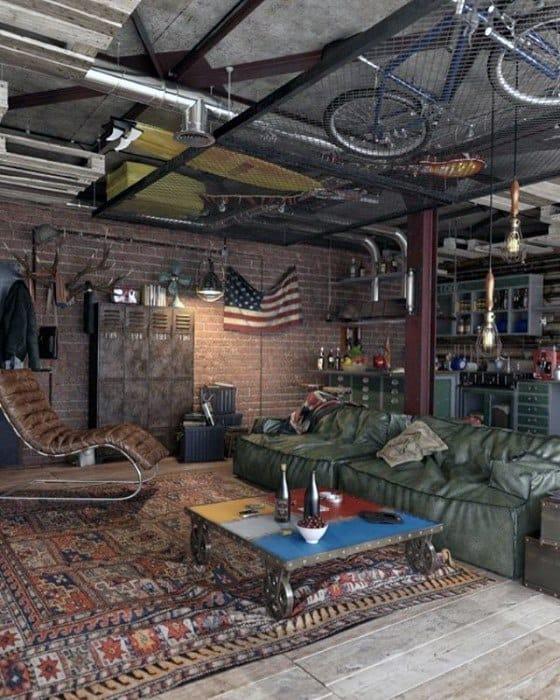 Garage Awesome Man Cave Designs For Gentlemen