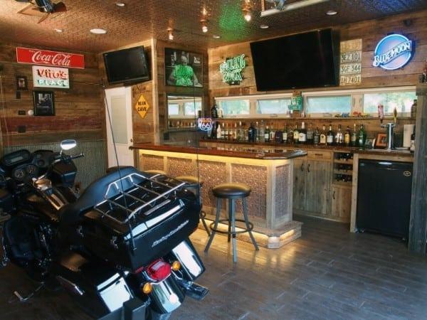 Garage Bar Lighting Ideas