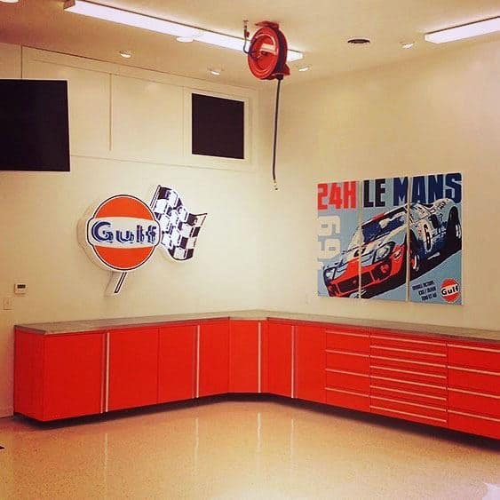 Garage Cabinet Ideas Painted Red