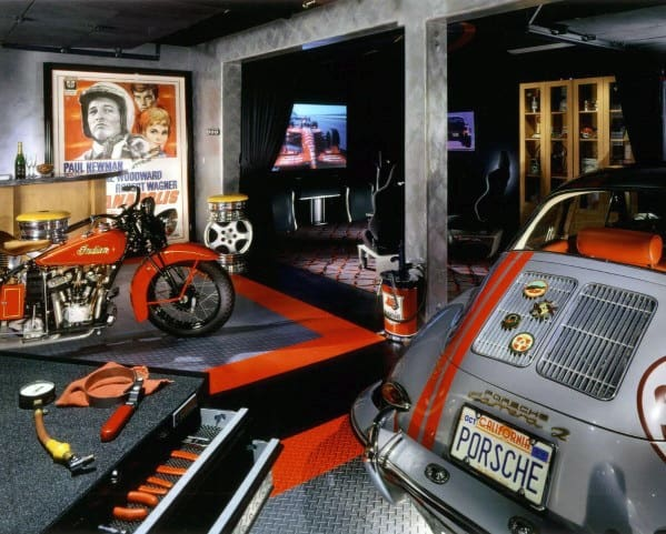 collector car garage ideas - 60 Cool Man Cave Ideas For Men Manly Space Designs
