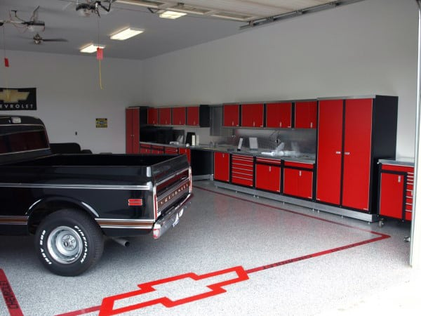 Garage Floor Epoxy With Chevrolet Design