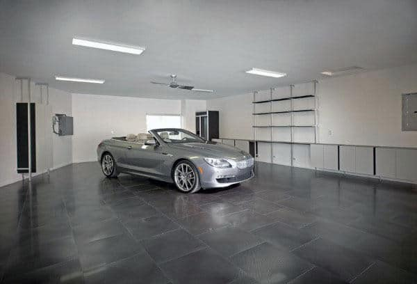 Garage Floor Tiles Dark Grey Stone Design Ideas