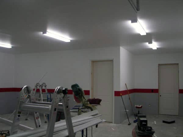 Garage Fluorescent Lighting Layout Design Ideas