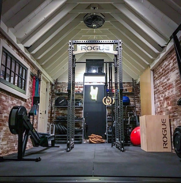 Rogue fitness garage gym courtesy of dan deroma facebook