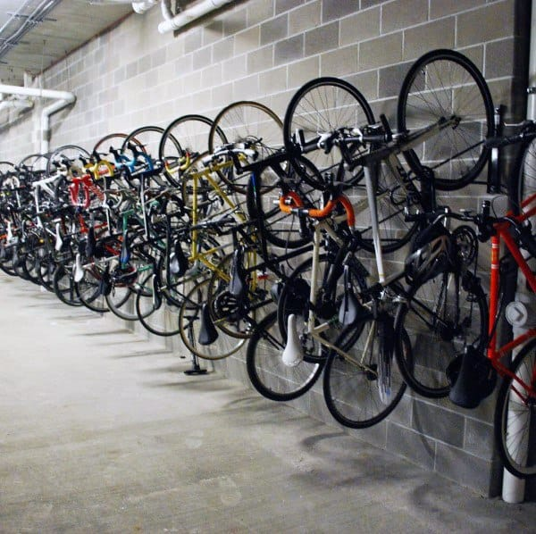 Garage Industrial Bicycle Storage Ideas