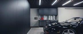 50 Garage Lighting Ideas For Men – Cool Ceiling Fixture Designs
