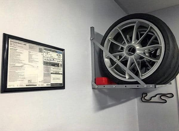 Garage Overhead Storage Car Tire Shelf