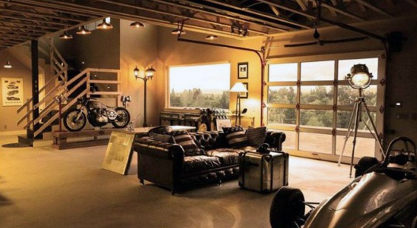 Garage Renovation Man Cave : Man cave garage ideas modern to industrial designs