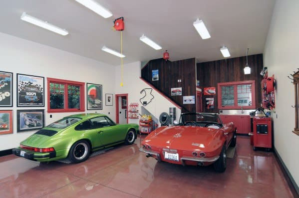 Garage Simple Cool Man Cave Ideas