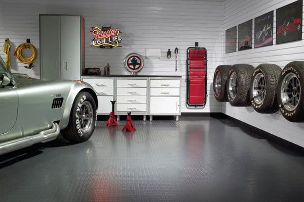 Garage Storage Ideas With Tires Mounted On Wall