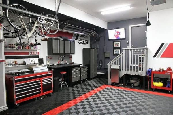 Garage Storage Organization Ideas With Bike Hangers
