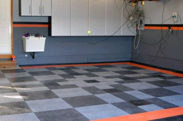 Garage Wall Design Idea Inspiration Harley Davidson Themed Paint