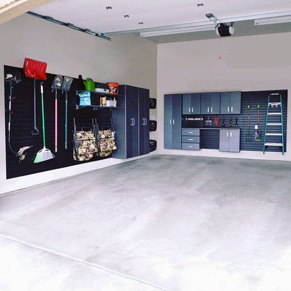 Garage Wall Storage For Garden Tools And Ladder
