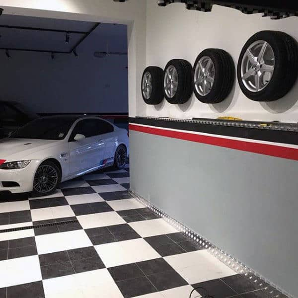 Garage Wall Storage Ideas Tires Mounted