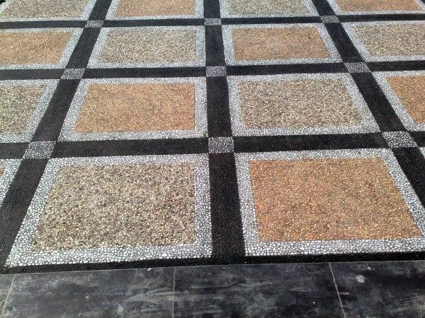 Garage With Incredible Floor Pattern Design