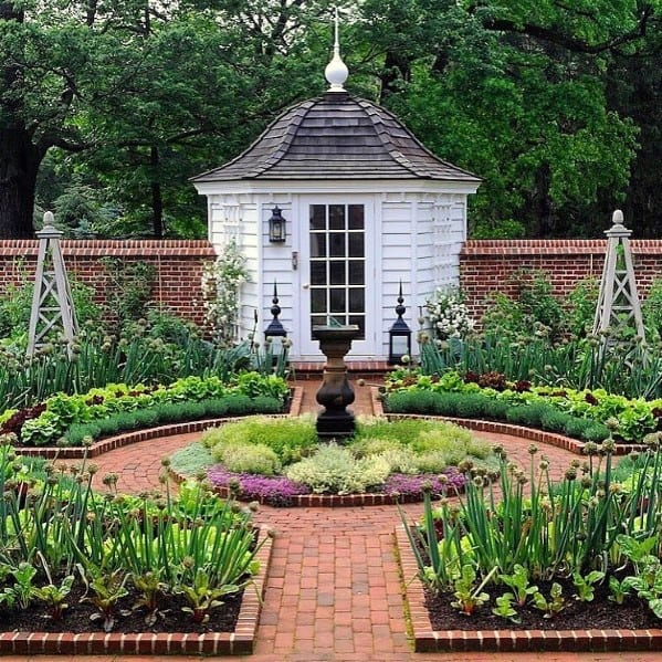 Garden Brick Walkway Design Inspiration