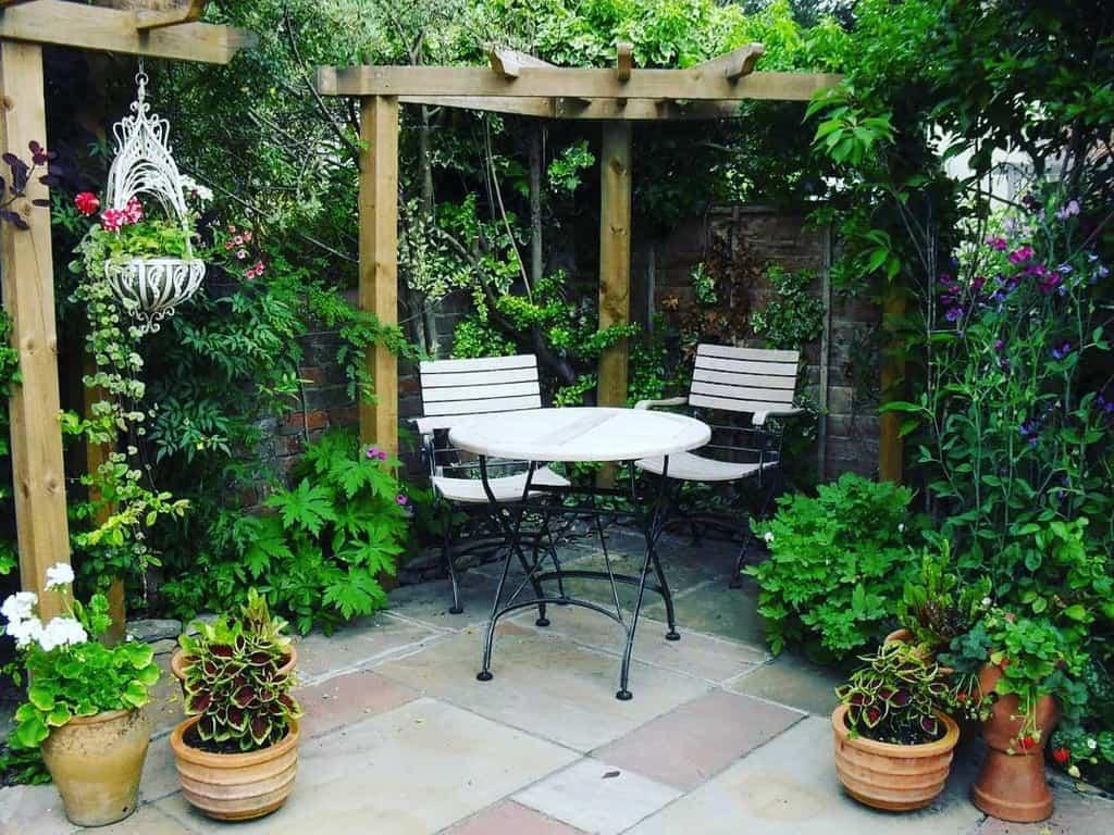 garden patio privacy ideas mydecoimages
