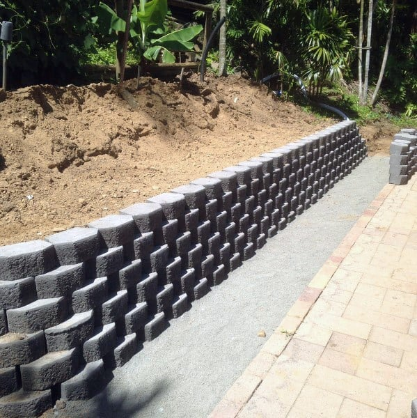 Top 60 Best Retaining Wall Ideas - Landscaping Designs on Backyard Wall Covering Ideas id=66616
