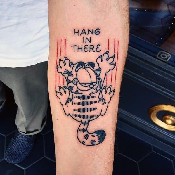Garfield Themed Tattoo Design Inspiration