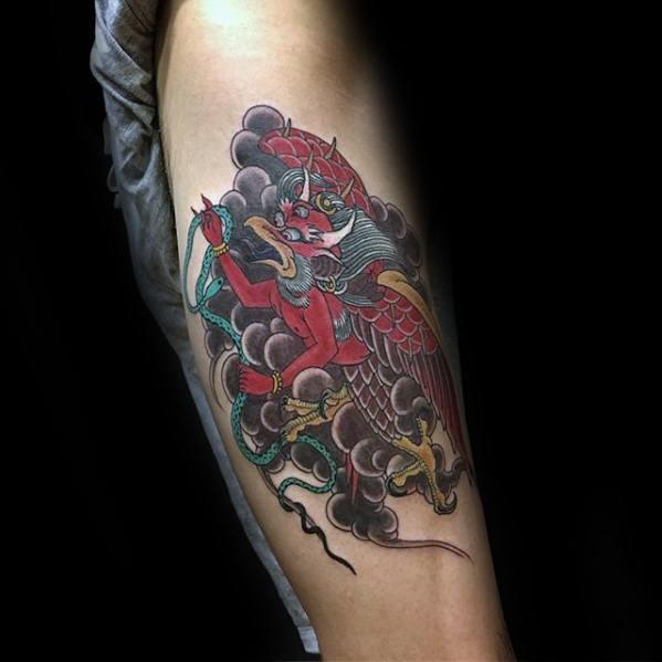 Garuda Mens Tattoo Designs
