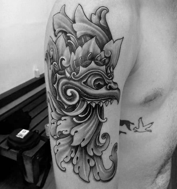 Garuda Tattoo Design On Man