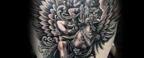 50 Garuda Tattoo Designs For Men – Humanoid Bird Ink Ideas