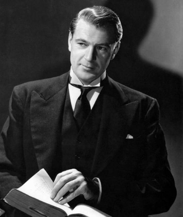 Gary Cooper With Wavy Thick Hairstyle 1940s