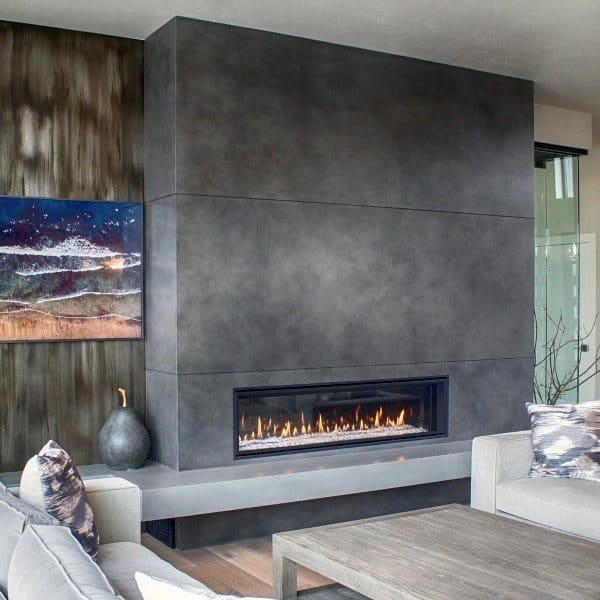 how to clean a concrete fireplace hearth