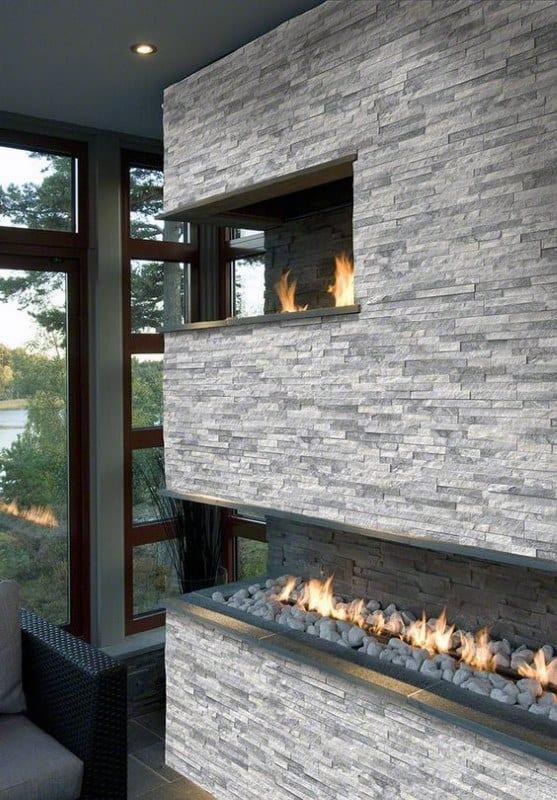 Gas Corner Fireplace Design Ideas