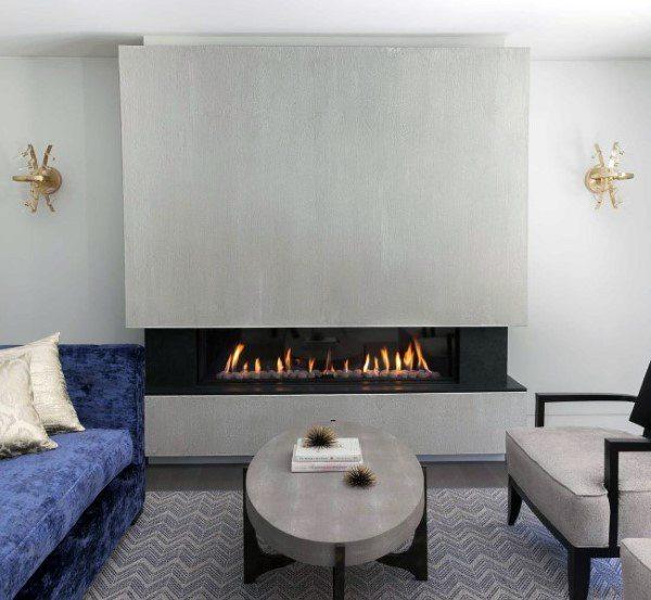 Gas Fireplace Concrete Designs